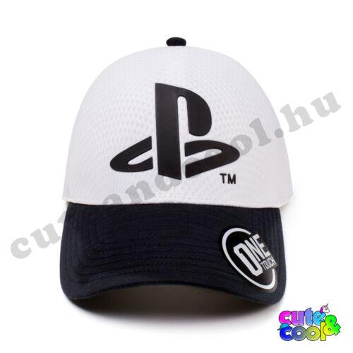 PlayStation fehér baseball sapka