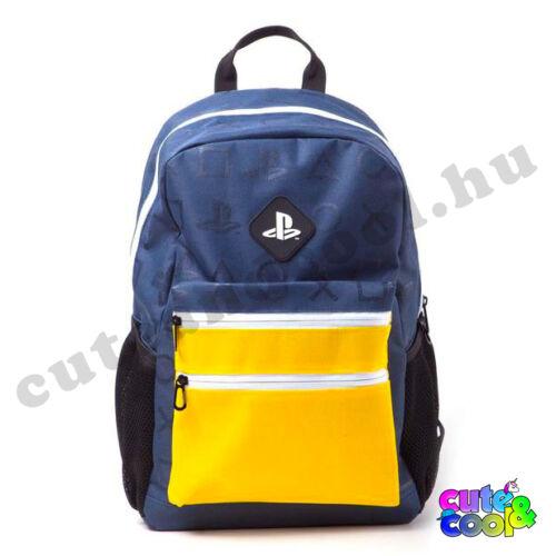 PlayStation sárga-kék iskolatáska