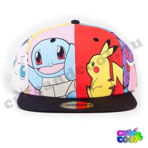 Pokémon Team snapback sapka