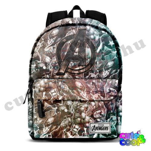 Avengers USB töltős ergonomikus hátizsák-iskolatáska