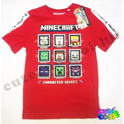 Minecraft Character Select póló