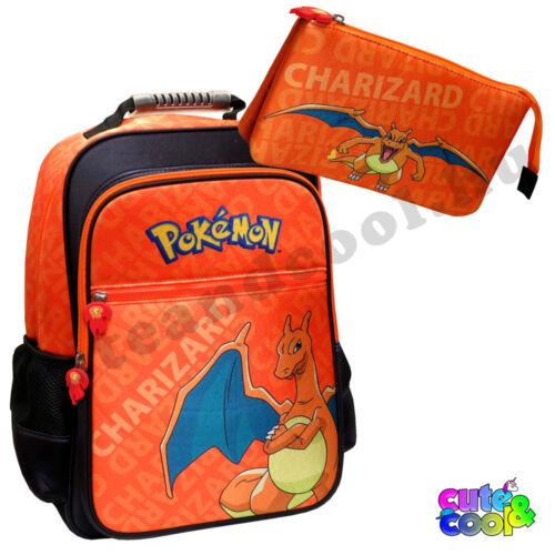 Pokémon Charizard iskolatáska és tolltartó