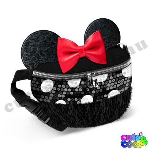 Minnie Mouse flitteres-szőrmés övtáska