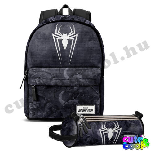 Marvel Pókember ergonomikus USB csatlakozós iskolatáska + ajándék tolltartó