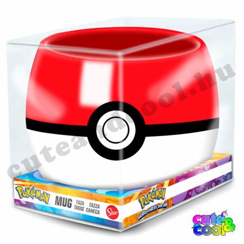 Pokémon Pokélabda formájú bögre 3D 290ml