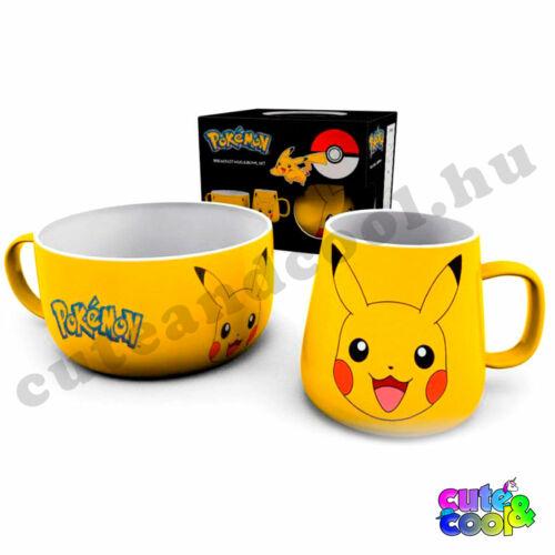 Pokémon Pikachu reggeliző szett
