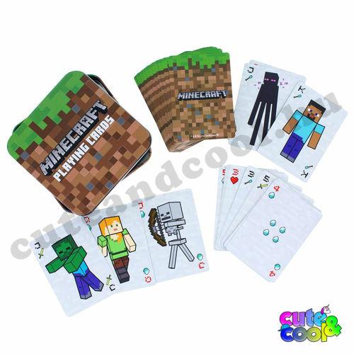 Minecraft kártya fémdobozban