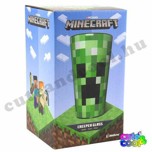 Minecraft Creeper vastagfalú üveg pohár