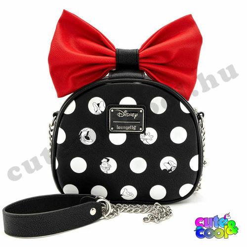 Loungefly X Disney Minnie Mouse pöttyös-masnis válltáska, táska