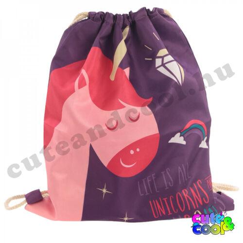 Unikornis party táska, tornazsák