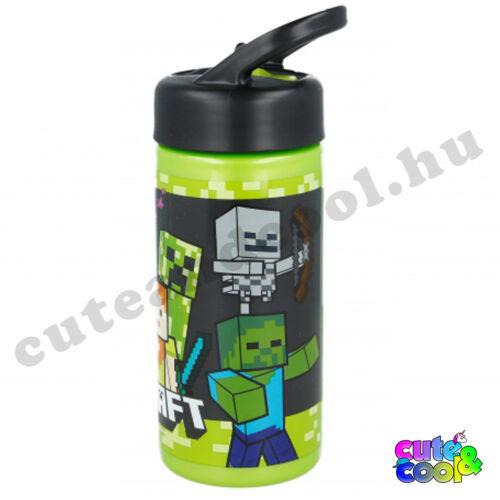 Minecraft csőrös műanyag kulacs