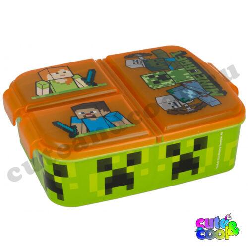 Minecraft osztott uzsonnásdoboz - snackdoboz