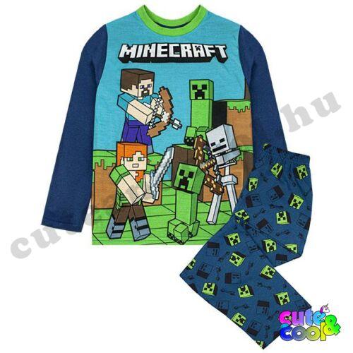 Minecraft Steve és Creeper pizsama