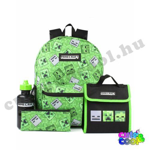 Minecraft zöld 4 darabos Iskolatáska szett