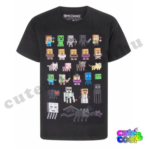 Minecraft karakteres fekete póló