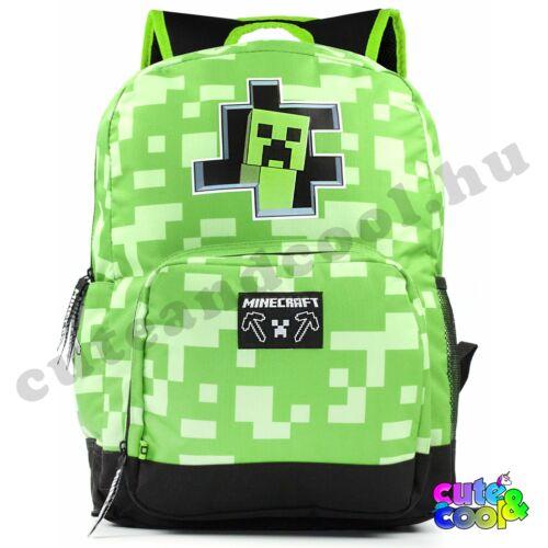 Minecraft kukucs itt a Creeper zöld iskolatáska