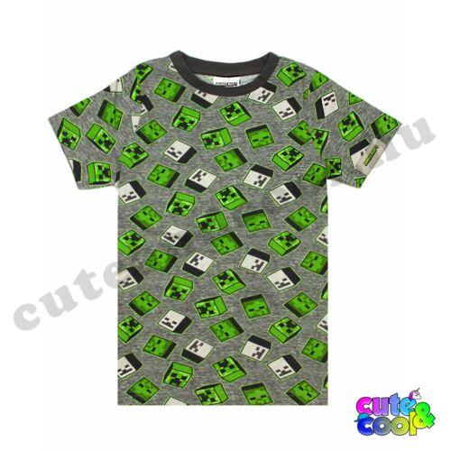 Minecraft szürke skines póló