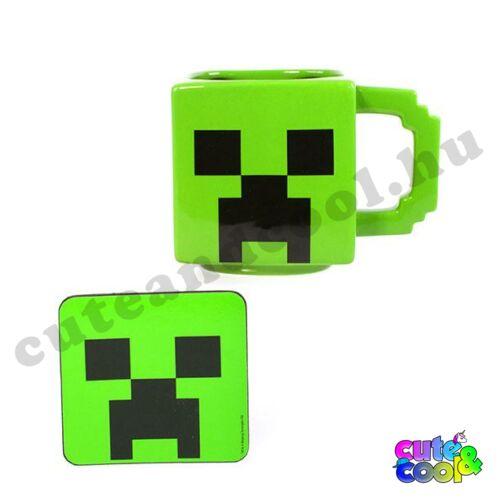 Minecraft Creeper kerámia bögre és alátét