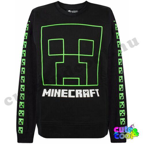 Minecraft fekete pamut Creeper Pulóver