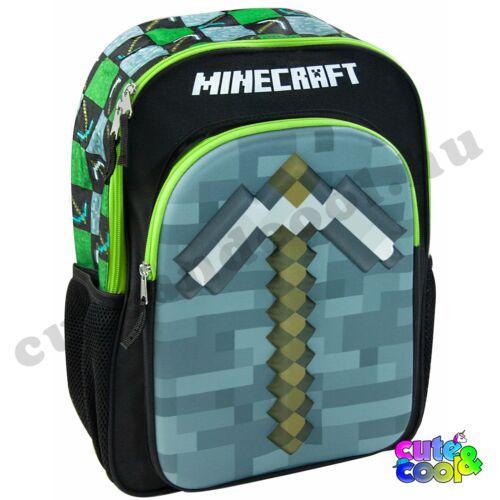 Minecraft 3D Csákány táska, iskolatáska