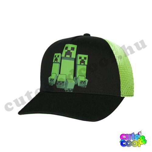 Minecraft 3 Creeper baseball sapka