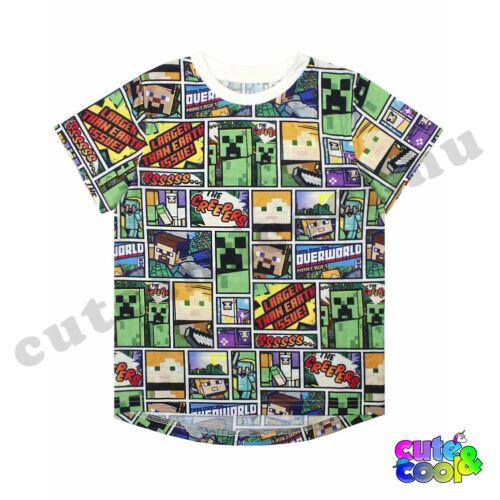 Minecraft képregény mintás póló