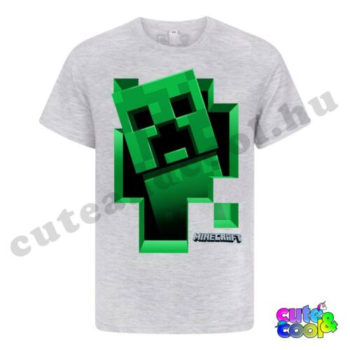 Minecraft kirobbanó Creeper szürke póló
