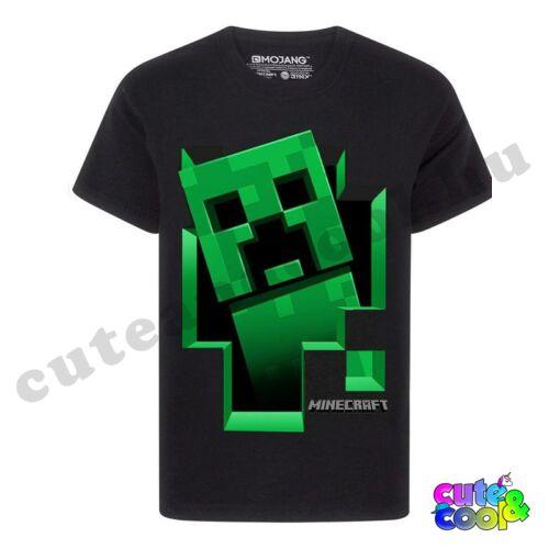 Minecraft kirobbanó Creeper fekete póló
