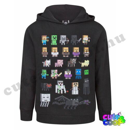 Minecraft karakteres fekete kapucnis pulóver