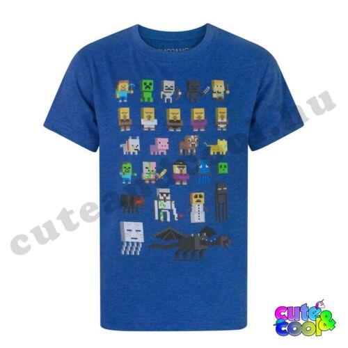 Minecraft karakteres kék póló