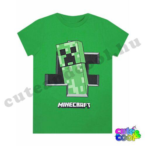 Minecraft kirobbanó Creeper zöld póló