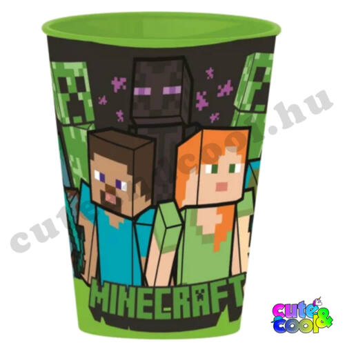 Minecraft Steve&Alex műanyag pohár 260ml