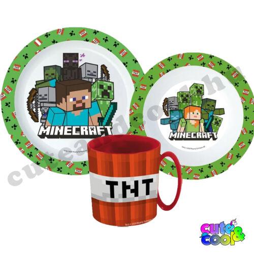 Minecraft TNT műanyag étkészlet